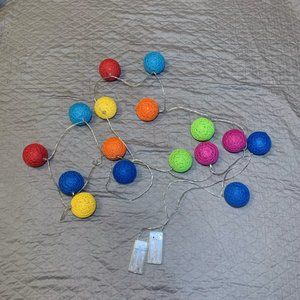 Multiple Ball battery operated string lights